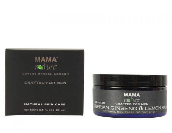 Men's Siberian Ginseng & Lemon Balm Natural Revitalising Day Cream (Age Defence Range)