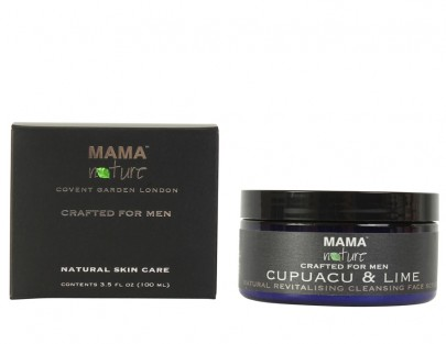 Men's Cupuacu & Lime Natural Revitalising Cleansing Face Scrub
