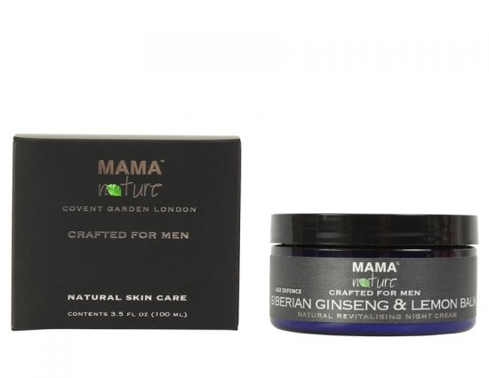 Men's Siberian Ginseng & Lemon Balm Natural Revitalising Night Cream (Age Defence Range)